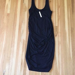 NWT maternity dress size L in black.